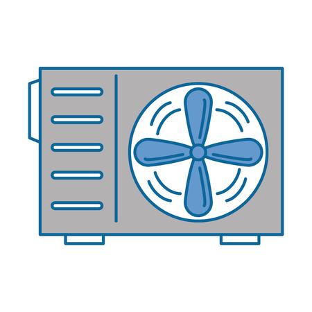 Ikonenvektor-Illustrationsdesign der Klimaanlage lokalisiertes Standard-Bild - 89879414
