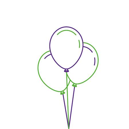 Tre palloncini decorazione partito partito illustrazione vettoriale Archivio Fotografico - 89879427