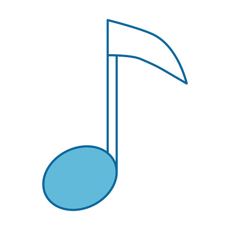 music note isolated icon vector illustration design Ilustração