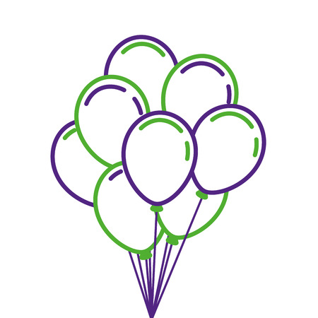 bunch of birthday balloons for party and celebrations vector illustration