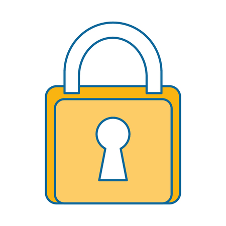 safe padlock isolated icon vector illustration design Stock Vector - 89879508