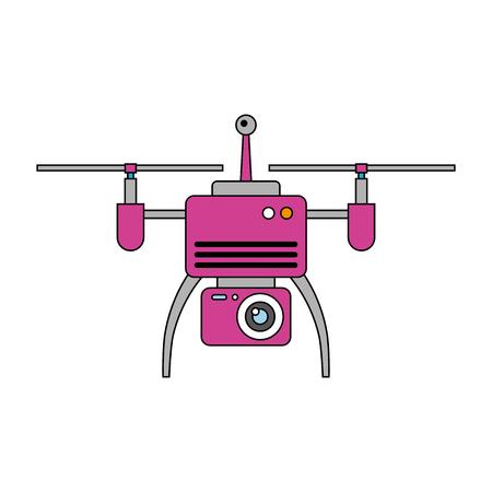Drone antena câmera remoto hélice dispositivo ilustração vetorial Foto de archivo - 89886601