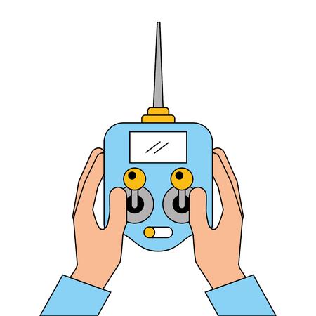 手を画面のベクトル図とドローンの制御リモート事前を保持