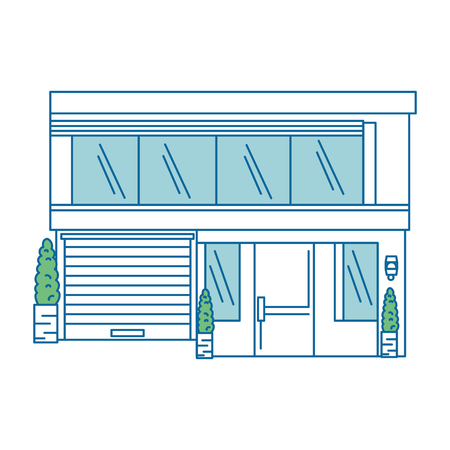 Schöne Front des Hauses Vektor-Illustration-design Standard-Bild - 89879678