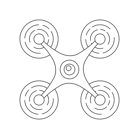 modern quadcopter drone with camera top view vector illustration