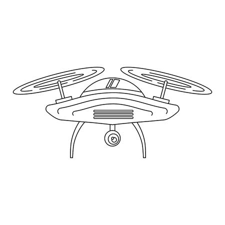 Drone antena câmera remoto hélice dispositivo ilustração vetorial Foto de archivo - 89869980