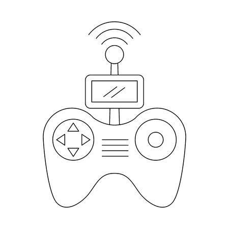 Illustration vectorielle de télécommande écran drone technologie Banque d'images - 89869983