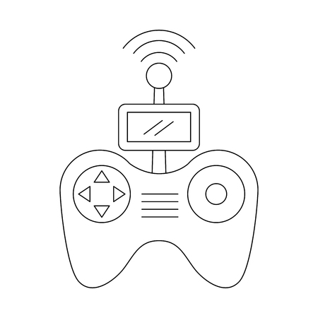 remote control screen drone technology vector illustration Ilustração