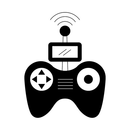 Télécommande drone antenne technologie sans fil vector illustration Banque d'images - 89869928