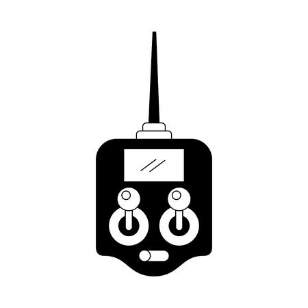 Télécommande drone antenne technologie sans fil vector illustration Banque d'images - 89869551