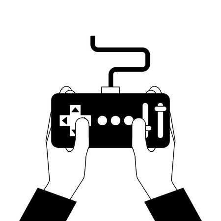 hands holding control remote advance for drones vector illustration 版權商用圖片 - 89869556