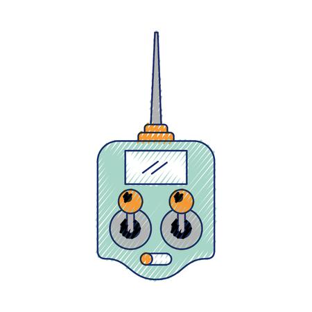 Télécommande drone antenne technologie sans fil vector illustration Banque d'images - 89869337