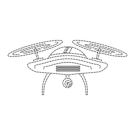 Dispositivo de hélice remoto cámara remota dispositivo vector ilustración Foto de archivo - 89869356
