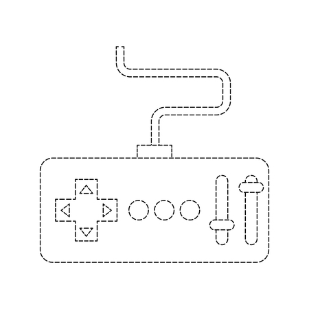 remote control transmitter drone technology vector illustration