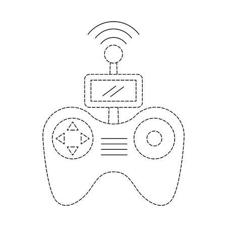 remote control antenna drone technology wireless vector illustration Ilustração