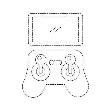 Illustration vectorielle de télécommande écran drone technologie Banque d'images - 89879857