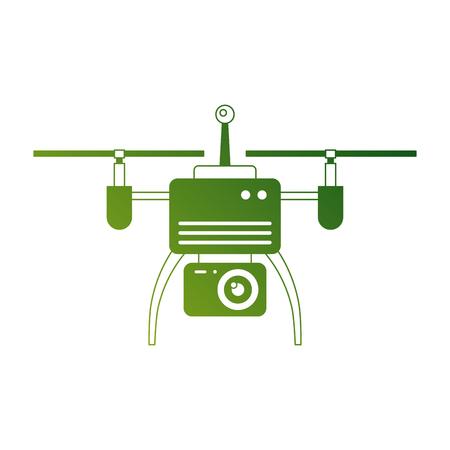 Drone antena câmera remoto hélice dispositivo ilustração vetorial Foto de archivo - 89880124