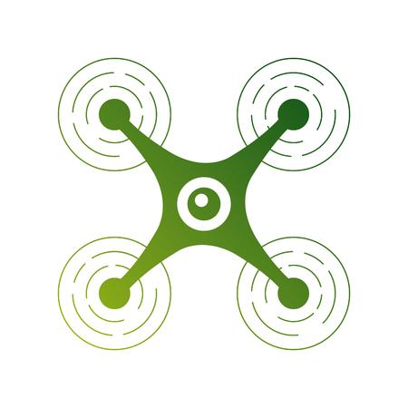 カメラ上面図のベクトル図とモダンな quadcopter ドローン