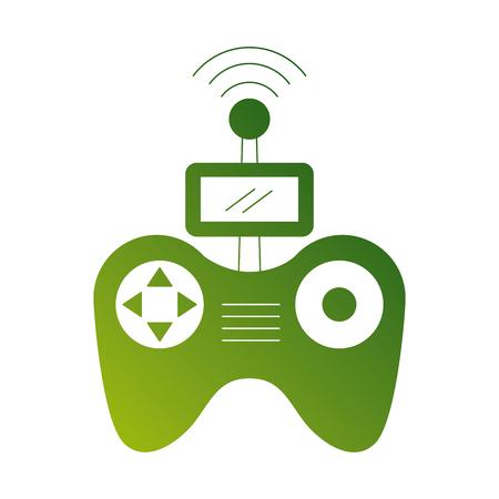 Télécommande drone antenne technologie sans fil vector illustration Banque d'images - 89880149
