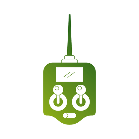 remote control antenna drone technology wireless vector illustration Illustration