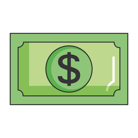 法案ドルお金アイコン ベクトル イラスト デザイン  イラスト・ベクター素材
