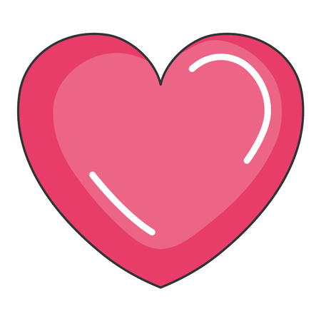 heart love isolated icon vector illustration design