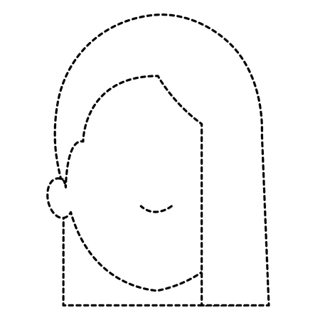 beautiful woman head avatar character vector illustration design Stok Fotoğraf - 89878217