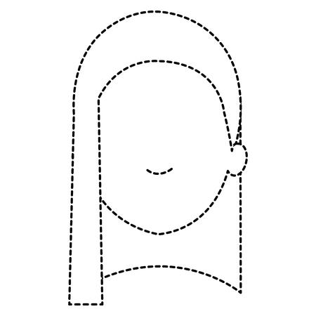 beautiful woman head avatar character vector illustration design Stok Fotoğraf - 89878221