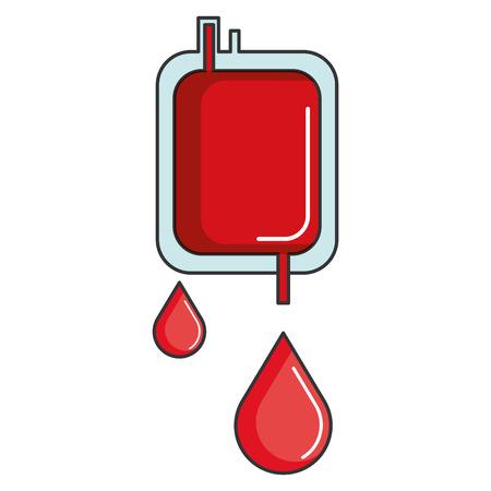 projeto isolado da ilustração do vetor do ícone do saco do sangue