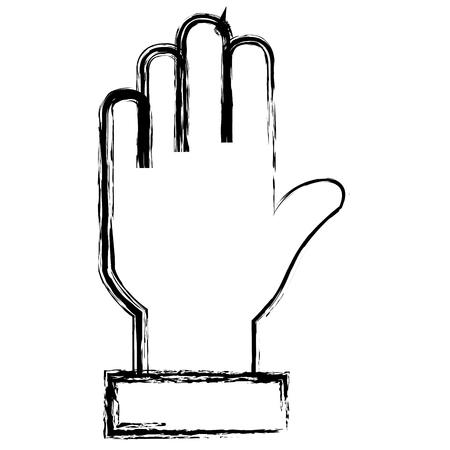 Progettazione dell'illustrazione di vettore dell'icona isolata arresto della mano Archivio Fotografico - 89886084