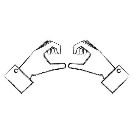 hands forming a heart vector illustration design Stok Fotoğraf - 89886099