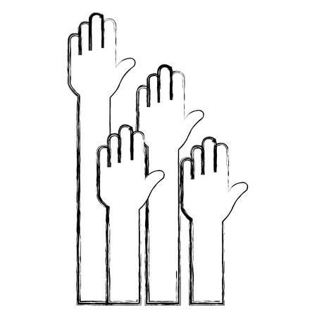 Hands up icon vector illustration design Foto de archivo - 89886100