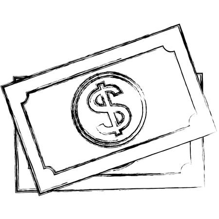 bills dollars money icon vector illustration design Çizim
