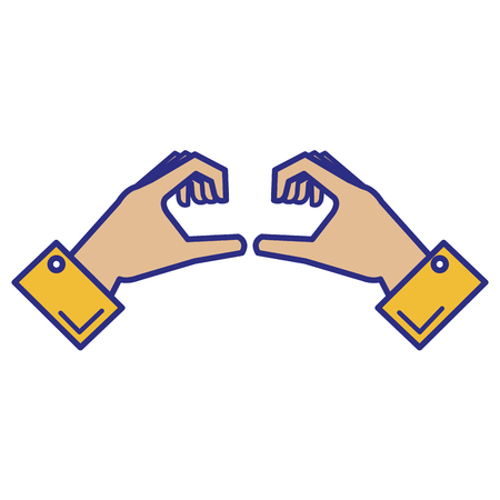 hands forming a heart vector illustration design Stok Fotoğraf - 89886165