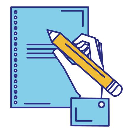 hand human writing icon vector illustration design Banco de Imagens - 89886300