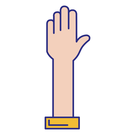hand stop isolated icon vector illustration design Stock Vector - 89886313