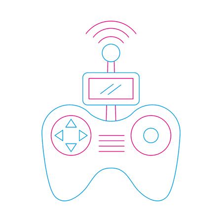 remote control screen drone technology vector illustration Illustration