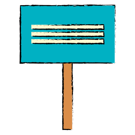protest banner isolated icon vector illustration design