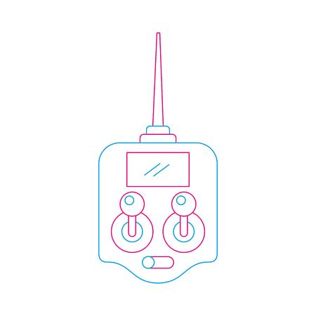 Illustration vectorielle de télécommande écran drone technologie Banque d'images - 89886366