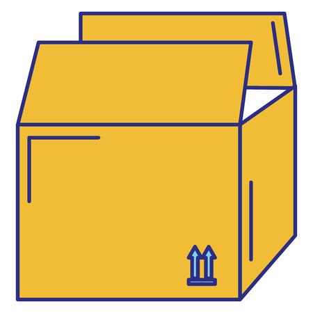 ダン ボール箱分離アイコン ベクトル イラスト デザイン