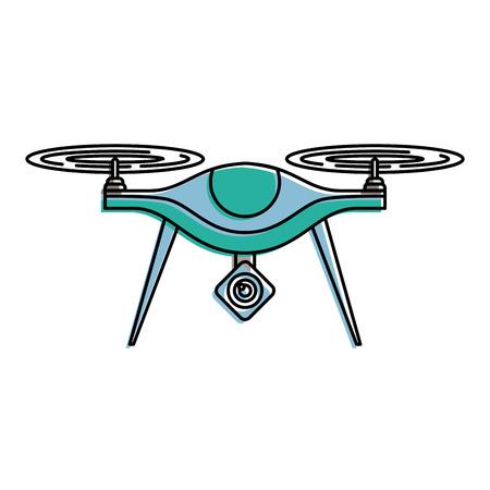 Ilustración de vector de dispositivo remoto de hélice de cámara aérea drone Foto de archivo - 89886472