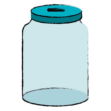 glass jar isolated icon vector illustration design