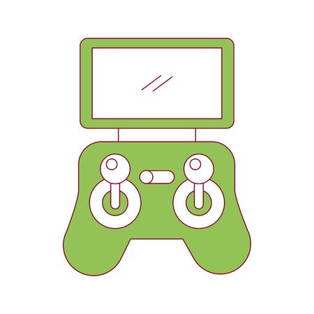 Illustration vectorielle de télécommande écran drone technologie Banque d'images - 89886538
