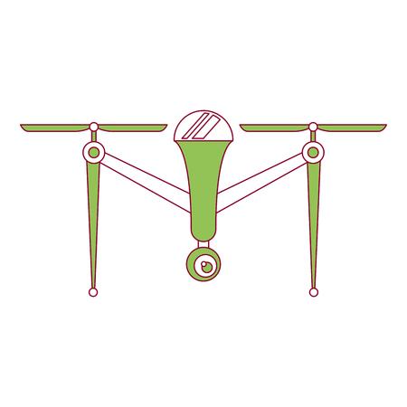 Dispositivo de hélice remoto cámara remota dispositivo vector ilustración Foto de archivo - 89886540
