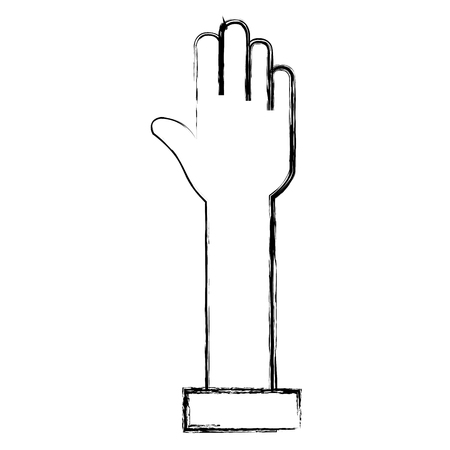 手分離停止アイコン ベクトル イラスト デザイン  イラスト・ベクター素材