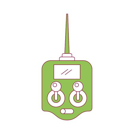 Télécommande drone antenne technologie sans fil vector illustration Banque d'images - 89886880
