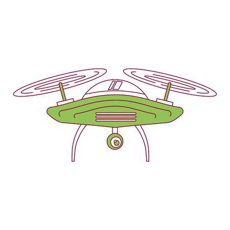drone aerial camera remote propeller device vector illustration Illustration