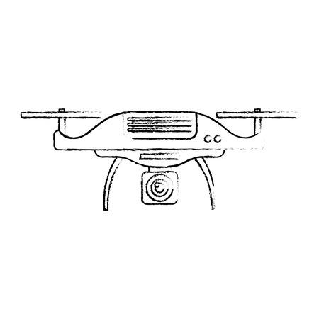 Ilustración de vector de dispositivo remoto de hélice de cámara aérea drone Foto de archivo - 89887447