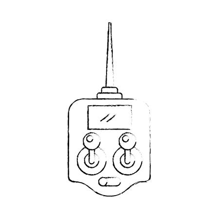 Télécommande drone antenne technologie sans fil vector illustration Banque d'images - 89887459