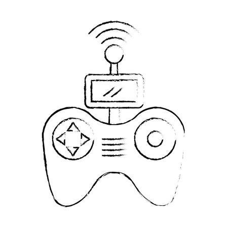 Télécommande drone antenne technologie sans fil vector illustration Banque d'images - 89887330